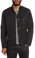 John Varvatos Men's Stand Collar Bomber Jacket