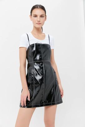Urban Outfitters Bergamo Faux Leather Mini Dress