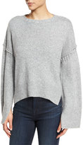 Elizabeth and James Harris Oversized Wool-Blend Sweater, Heather Gray