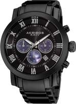 Akribos XXIV Men's AK622BK Grandiose Chronograph Quartz Stainless Steel Bracelet Watch