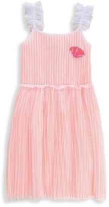 Billieblush Little Girl's & Girl's Striped Seashell Dress