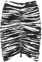 Burberry Zebra-print stretch-cotton skirt