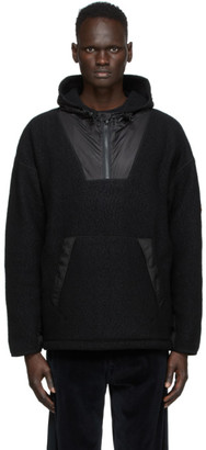 Kenzo Black Wool Fleece Half-Zip Hoodie