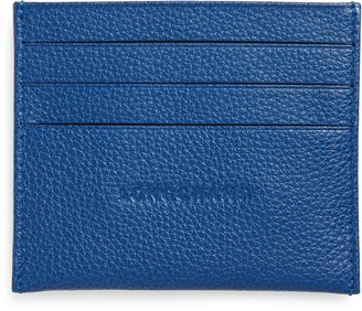 Longchamp 'Le Foulonne' Pebbled Leather Card Holder