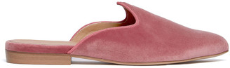 Le Monde Beryl Blush Pink Velvet Venetian Mule
