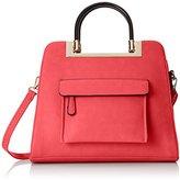 MG Collection Krista Structured Handle Tote Shoulder Bag