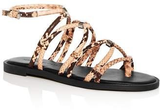 Rebecca Minkoff Women's Sarle Too Snake-Embossed Gladiator Sandals