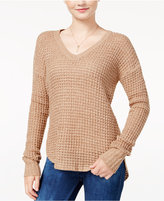 Ultra Flirt Juniors' Marled High-Low Sweater