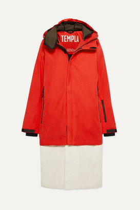 TEMPLA 3l Tombra Convertible Hooded Cotton-blend Ski Coat - Red