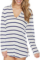 Splendid Stitch Solid Hoodie Tunic Cover Up