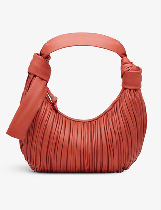 Neous Neptune pleated leather hobo bag