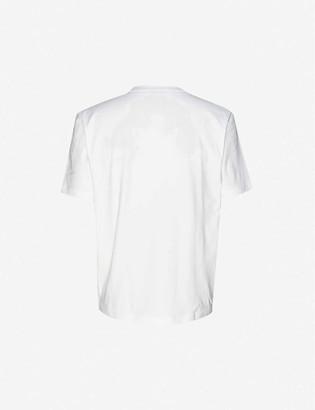HUGO BOSS Logo-print stretch-cotton T-shirt
