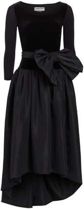 Chiara Boni Doha Velvet & Taffeta Fit-&-Flare Dress