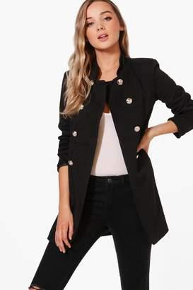 boohoo Military Style Coat