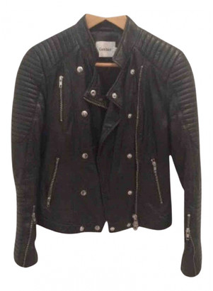 Gestuz Black Leather Leather jackets