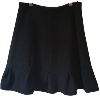 Carven Black Wool Skirt for Women