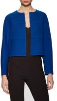 Diane von Furstenberg Sadira Wool Collarless Jacket