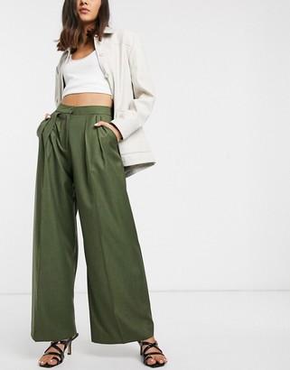 ASOS pleat front pants