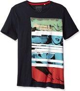 GUESS Men's Cityscape Crew Neck T-Shirt