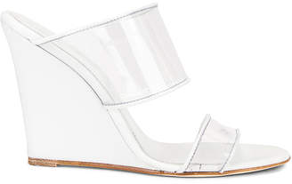 Paris Texas Plexi Wedge 100 Heel in White   FWRD