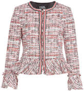 Karl Lagerfeld Boucle Jacket with Peplum