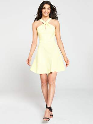 Ted Baker Freeda Twist Neck Skater Dress - Yellow