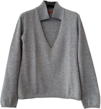 Non Signé / Unsigned Non Signe / Unsigned Grey Cashmere Knitwear for Women