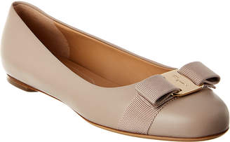 Salvatore Ferragamo Varina Leather Ballet Flat