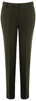 Warehouse Slim Leg Trousers, Dark Green