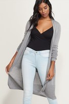 Dynamite Ribbed Open Maxi Cardigan