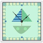 Green Baby Green Leaf Art Boat Decorative Art Clock