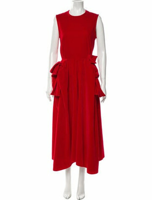 Maison Rabih Kayrouz Crew Neck Long Dress Red