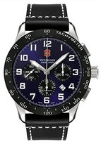 Victorinox Men's 241188.1 Airboss Mach VI Black/ Leather Watch