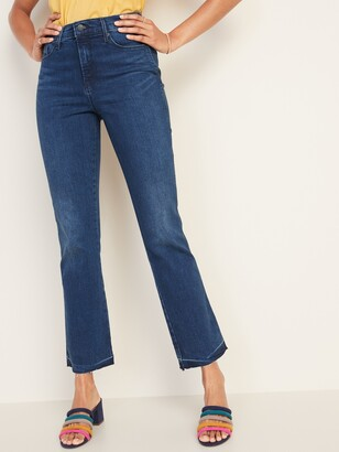 Old Navy High-Waisted Raw-Edge Flare Ankle Jeans For Women