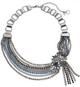 Simply Vera Vera Wang Chain & Stone Cluster Fringe Statement Necklace