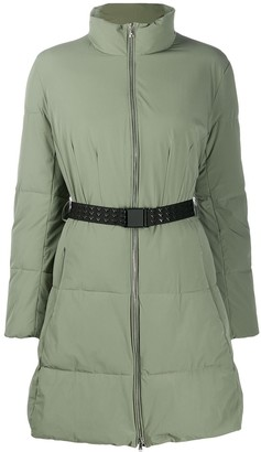 Emporio Armani belted puffer jacket