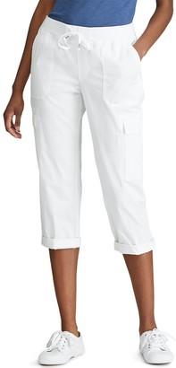 Chaps Women's Cuffed Cargo Capri Pants