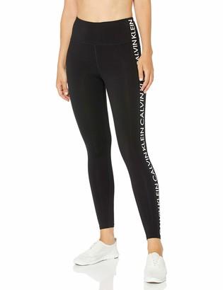 Calvin Klein Women's Repeat Capital Calvin Logo High Waist Full Length Legging