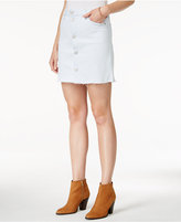 Hudson Button-Front Denim Skirt