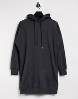 Thumbnail for your product : New Look longline hoodie in mid grey