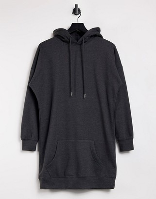 New Look longline hoodie in mid grey