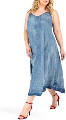 Standards & Practices Taylor Tank Denim Midi Dress