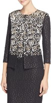 St. John Metallic Pixelated Jacquard Knit Jacket