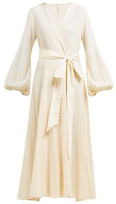 Kalita Gaia Cotton Wrap Dress - Womens - Light Pink