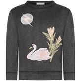 Stella McCartney KidsBlack Lurex Moon & Swan Valeria Sweater