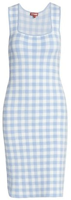 STAUD Dorinne Gingham Knit Dress
