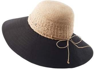 Helen Kaminski Kamali 13 Raffia & Cotton Cloche Hat