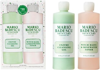 Mario Badescu Jumbo Size Enzyme Cleansing Gel & Witch Hazel & Rosewater Toner