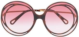 Chloé Carlina oversized round sunglasses