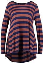 Zizzi Long sleeved top copper brown comb